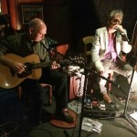 Eric and Mark doing a set at the Doggone It Blues gig